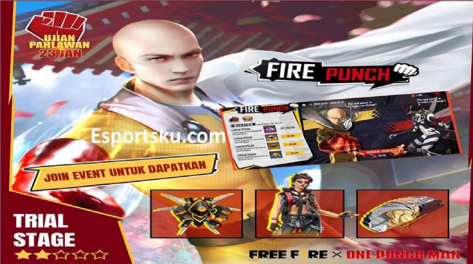 Free Diamond In Free Fire Ff X One Punch Man For You Esportsku